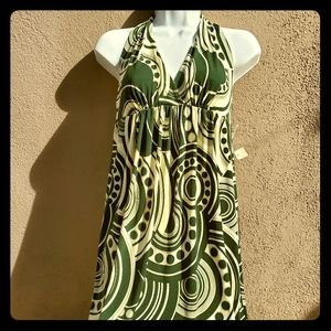 Maggy London retro 70's halter dress
